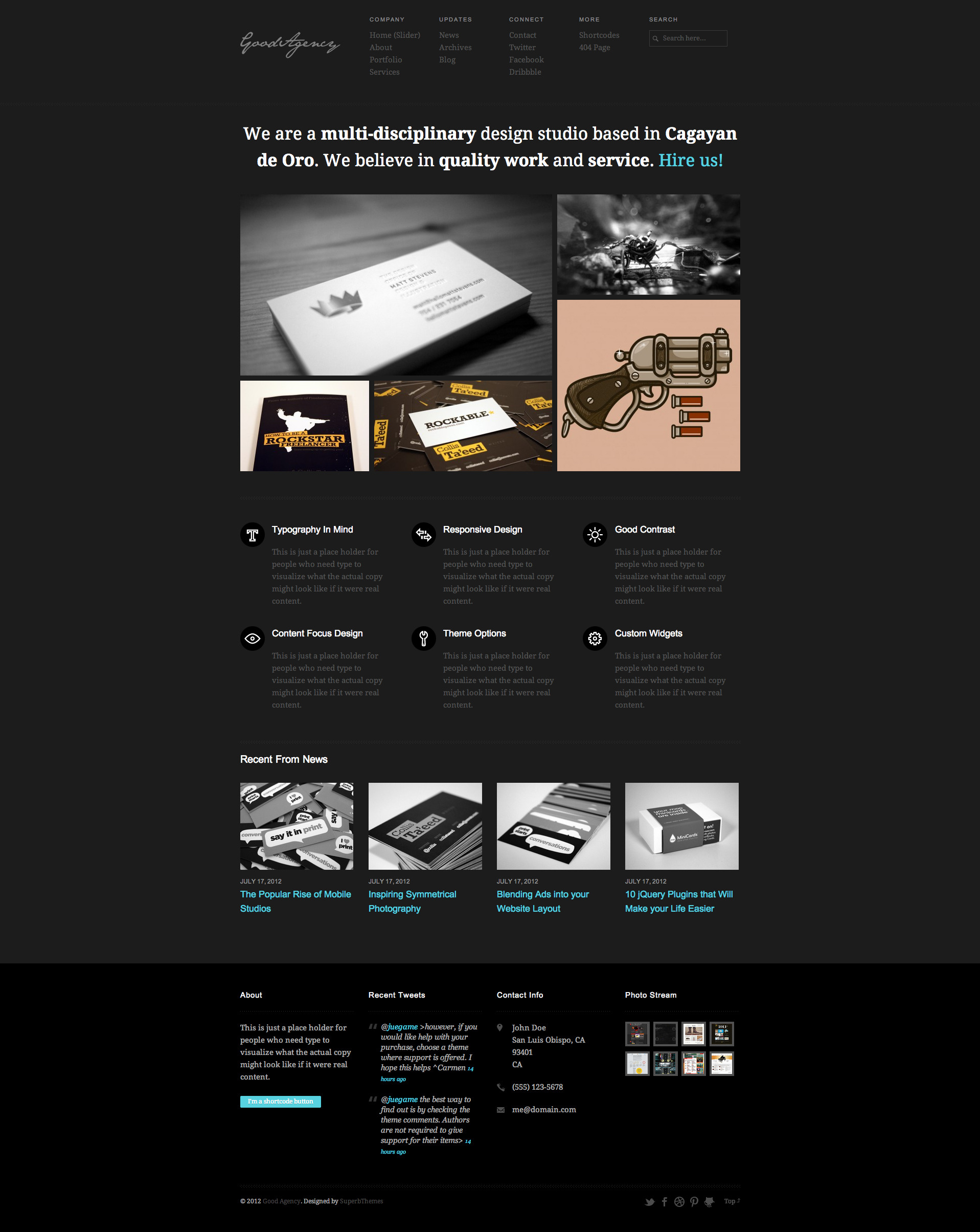 GoodAgency: Minimal & Responsive Wordpress Theme -