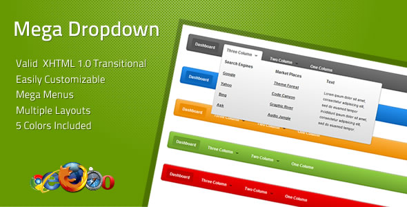 CodeCanyon Mega Dropdown 111251