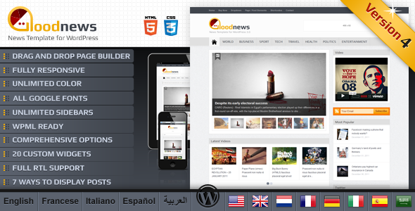 Goodnews – Premium WordPress News/Magazine - News / Editorial Blog / Magazine