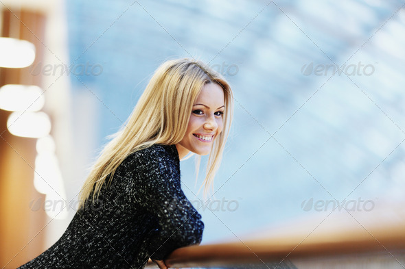 Teenage Girl with Healthy Blond Hair - Stock Photo - Images