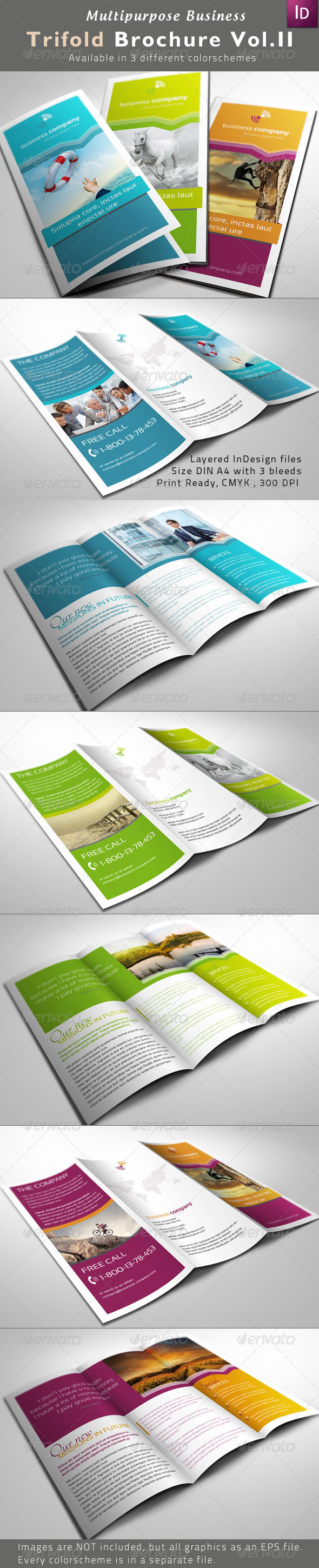 Multipurpose Trifold Brochures Vol. II - Corporate Brochures