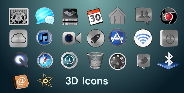 3DOcean 3D Icons 3150209