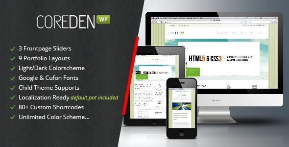 ThemeForest Coreden Responsive Wordpress Theme 2388209
