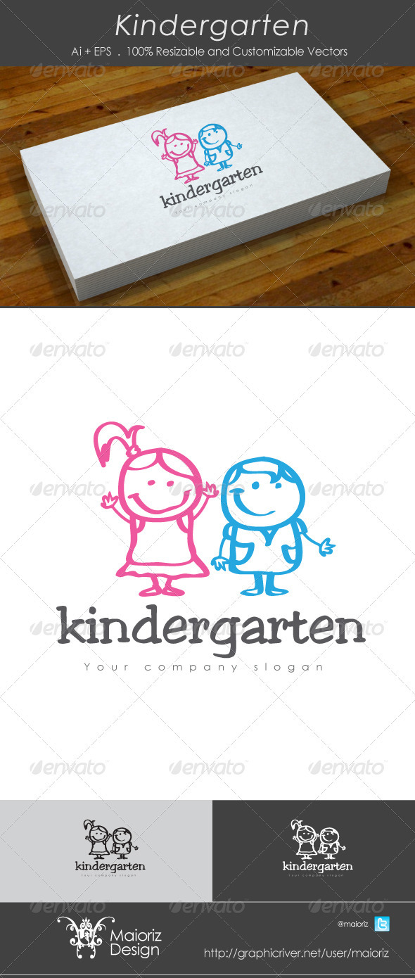 kindergarten Logo - Humans Logo Templates