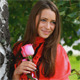 Beautiful Girl Posing With Rose 2 - VideoHive Item for Sale