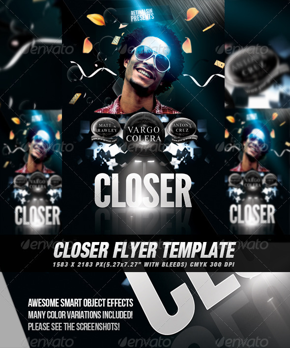 Closer Flyer/Poster Template - Clubs & Parties Events