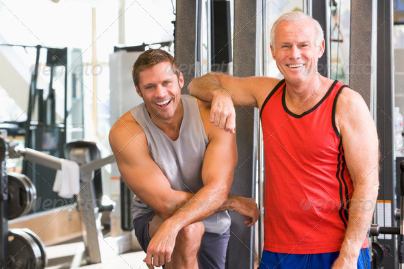 Men At The Gym Together - Stock Photo - Images