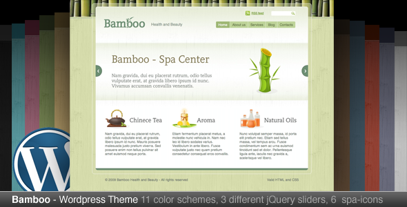 ThemeForest Bamboo Wordpress Theme 78997