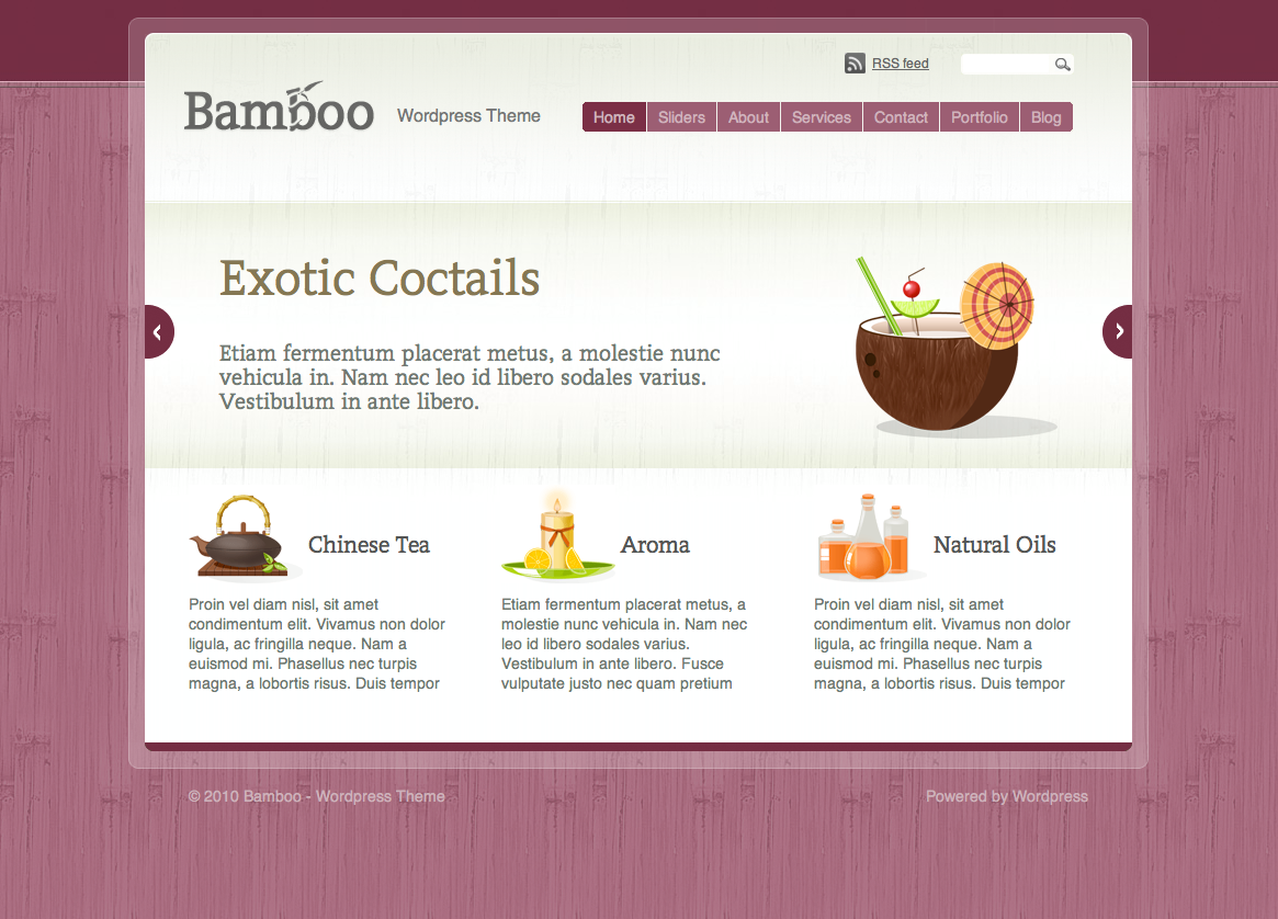 Bamboo  Wordpress Theme