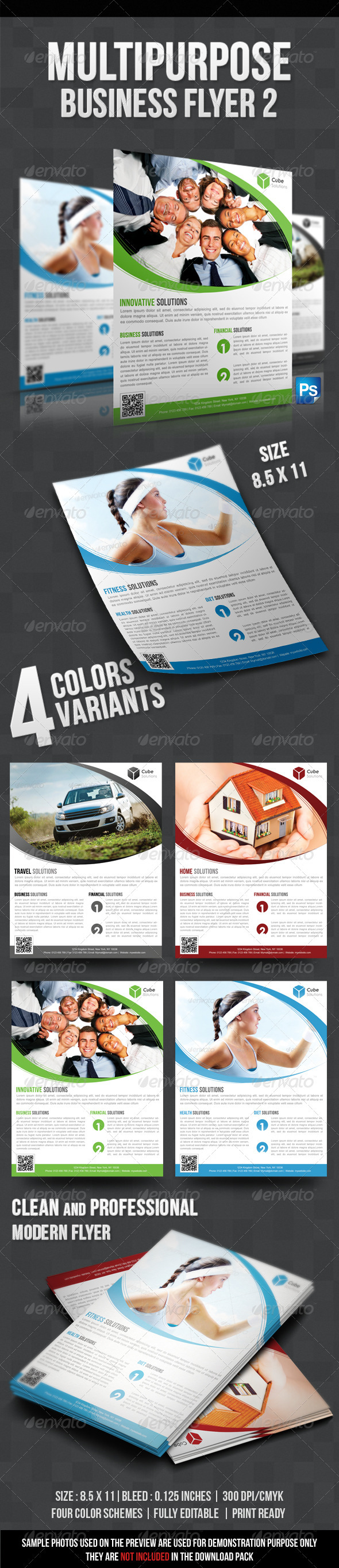 GraphicRiver Multipurpose Business Flyer 2 3155890