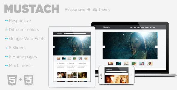 Mustach - Responsive Html5 Theme 
