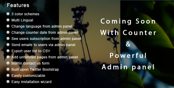 CodeCanyon Coming Soon App With Admin Panel 3121784