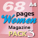 68 Pages Women Magazine Pack Three - GraphicRiver Item for Sale