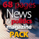 68 Pages News & Politics Magazine Pack - GraphicRiver Item for Sale