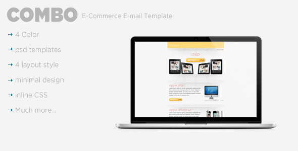 ThemeForest Combo E-Commerce E-mail Template 840265