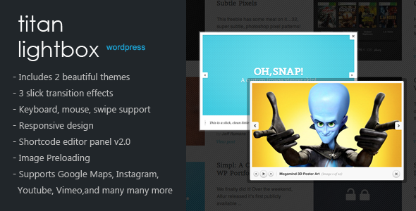 Titan Lightbox per WordPress - WorldWideScripts.net article en venda