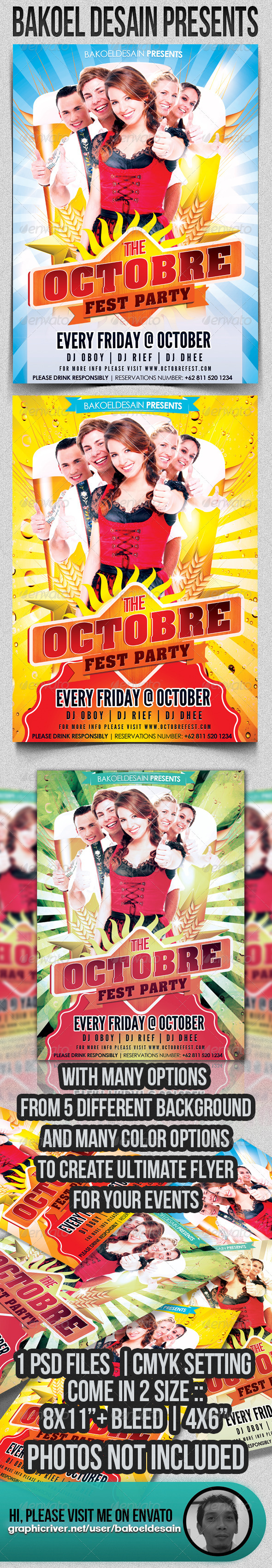 Octobre Fest Party Flyer - Clubs & Parties Events