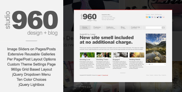 Studio960 WordPress by Cudazi