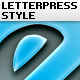 Letterpress Text Simple Style  - GraphicRiver Item for Sale