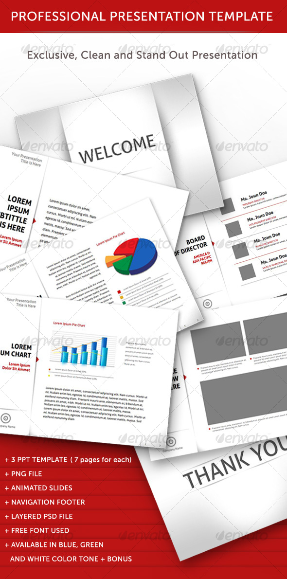 GraphicRiver Professional Animated Power Point Template 111615