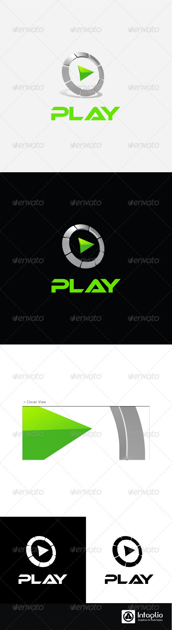 Gaming / Multimedia Logo - Play - 3d Abstract