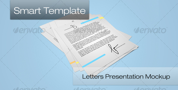 Letters Presentation Mockup - Stationery Print