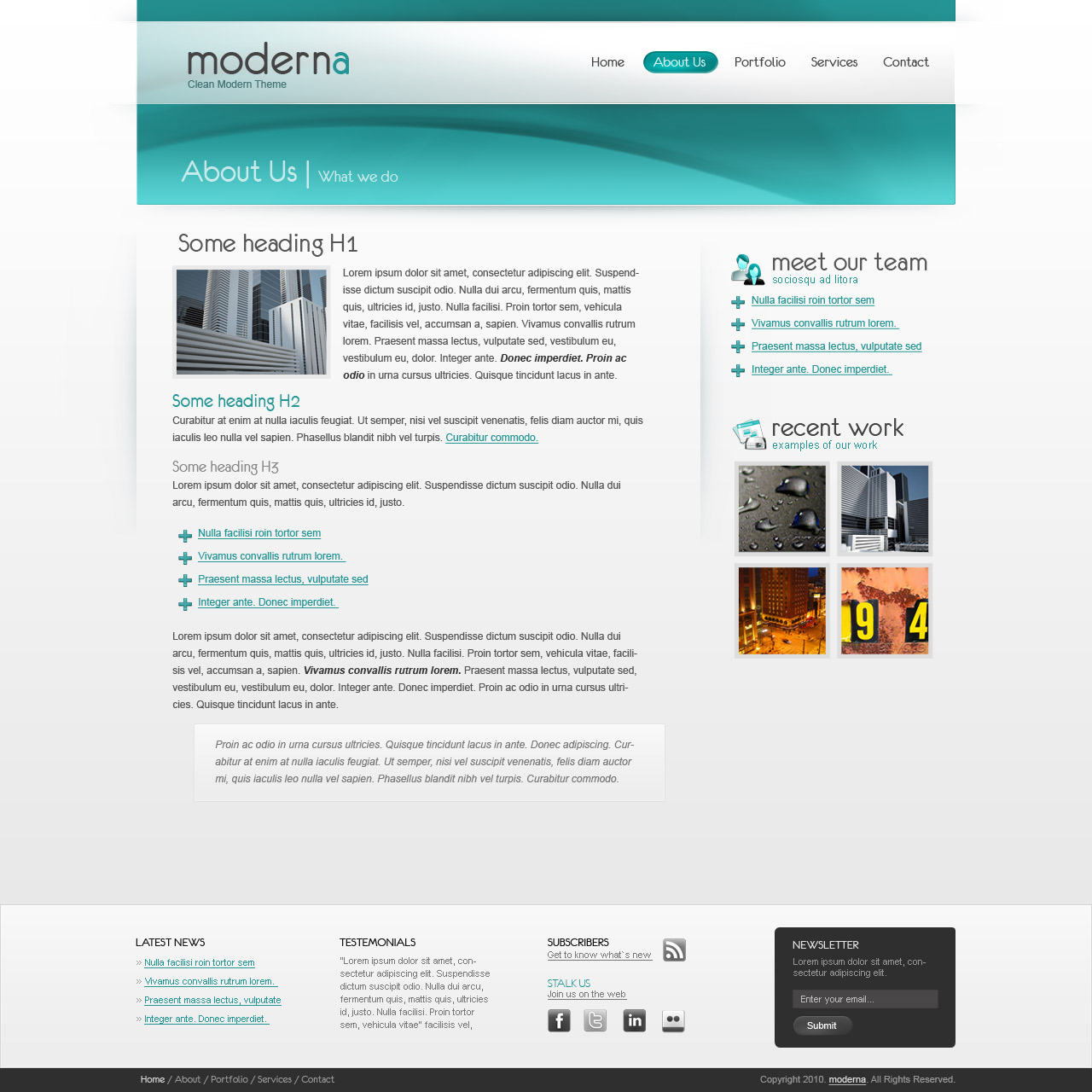 Moderna HTML Template - Web, Software, Hosting