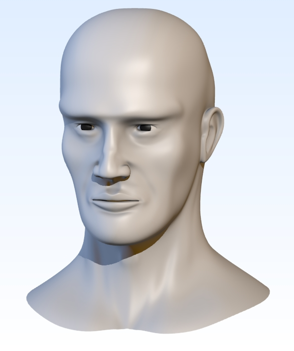 3DOcean Head base mesh 3D Models -  Base Meshes 111695