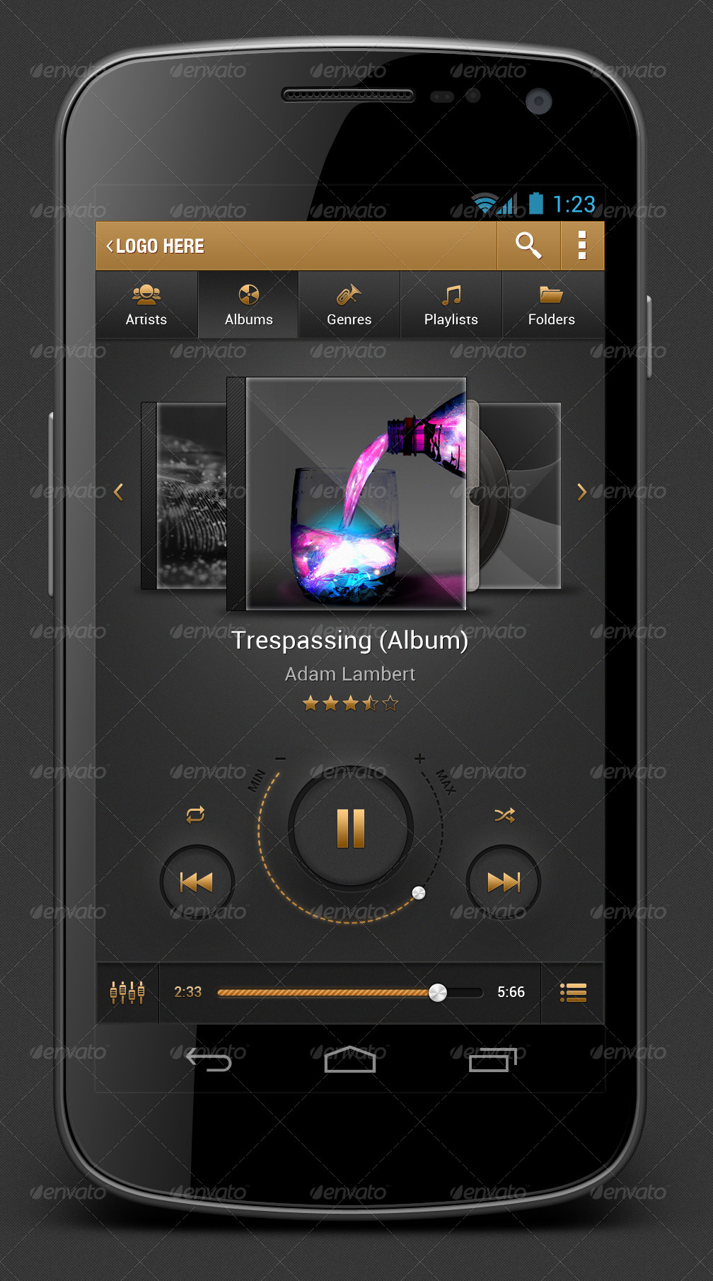 The Golden - Music Player App