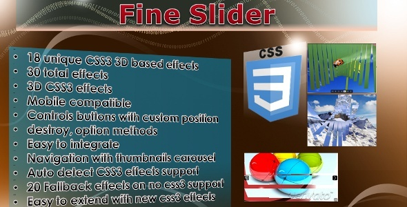 CodeCanyon Fine Slider jQuery CSS3 slider 1475745