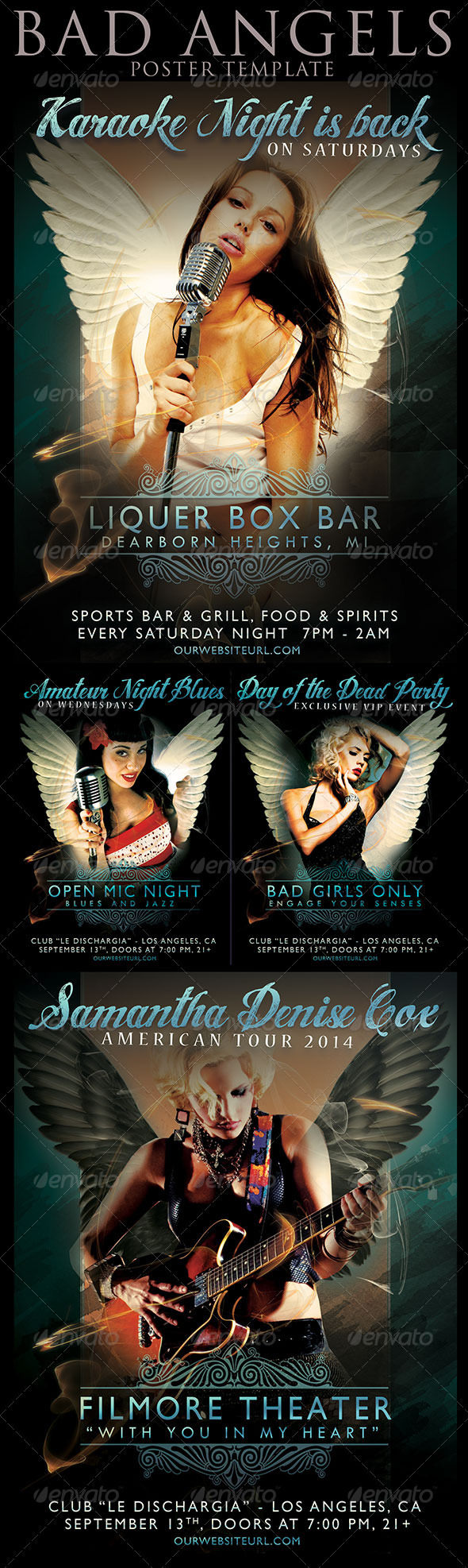 Bad Angel Poster - Events Flyers