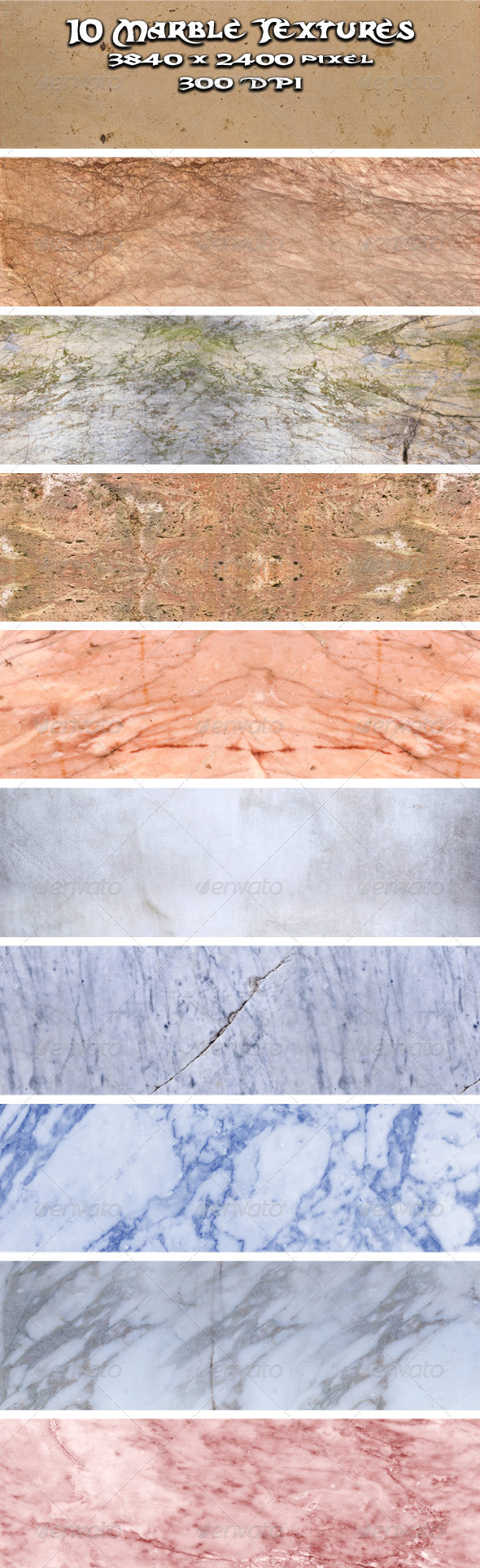 GraphicRiver Marble Textures Vol.1 3164256