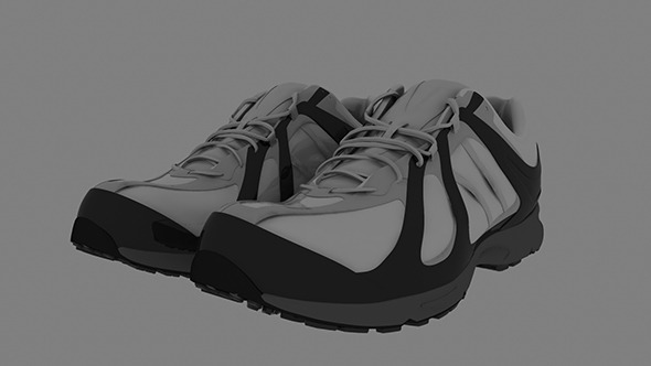 Realistic Sports Shoe Model - 3DOcean Item for Sale