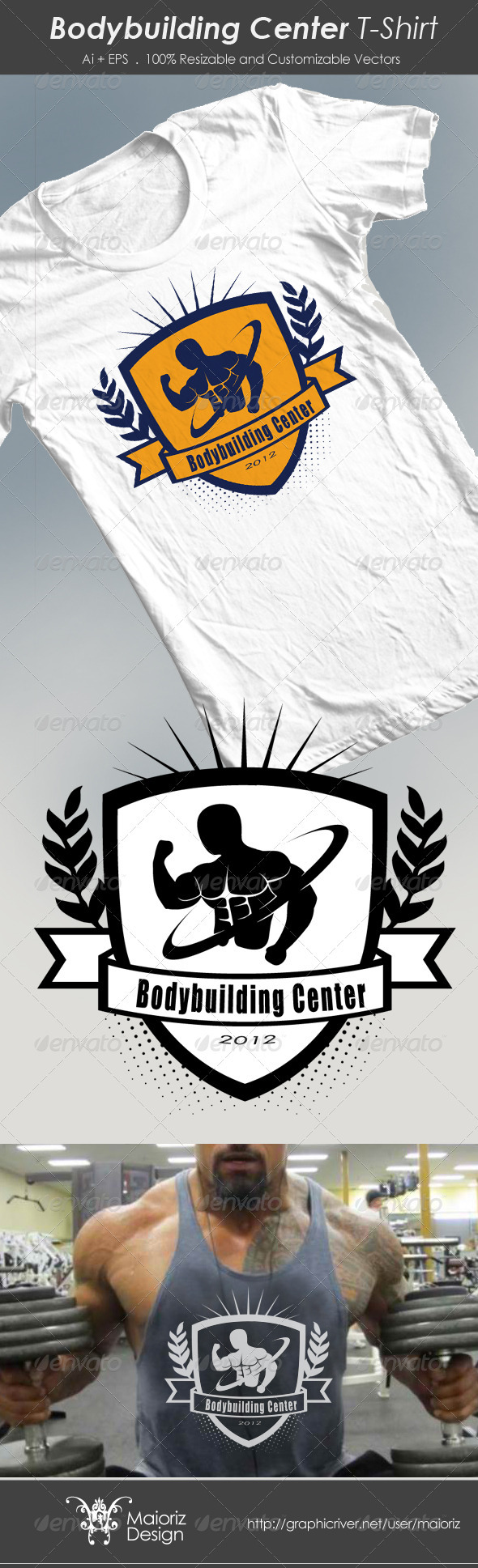 Bodybuilding Center Tshirt - Sports & Teams T-Shirts