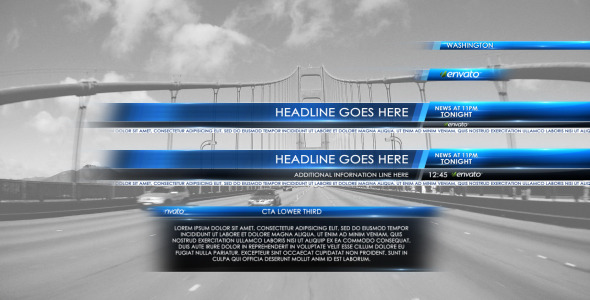VideoHive Lower Third News 2 3165189