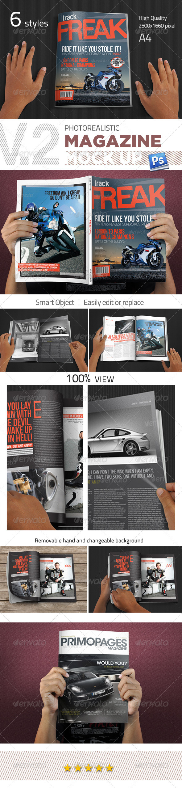 GraphicRiver Photorealistic Magazine Mockup V.2 3165410