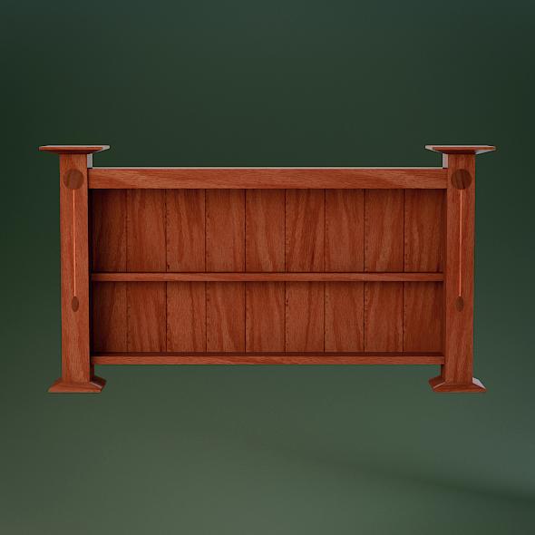 3DOcean Modern Oak Wood Wall Shelf 3166159