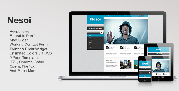 ThemeForest Nesoi Portfolio & Blog Template 2191425