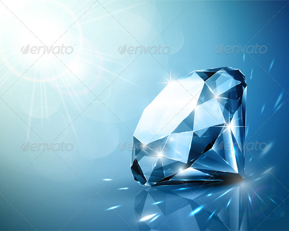 Shimmering diamond background - Man-made objects Objects