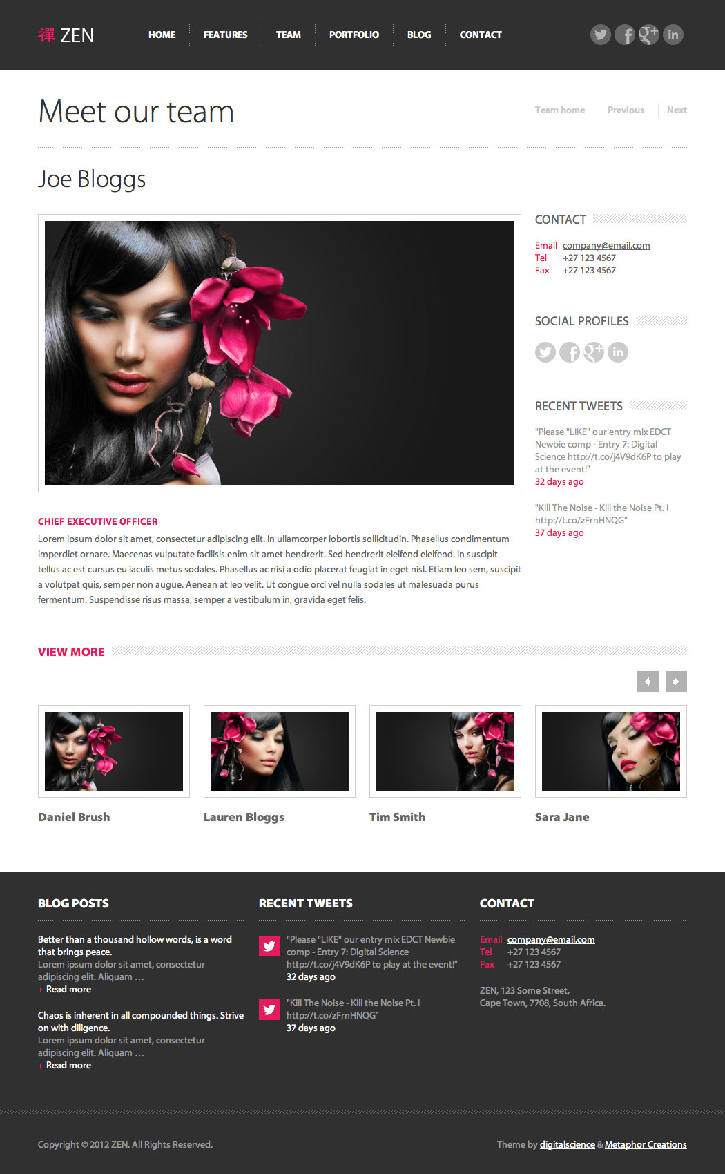 ZEN Responsive WordPress Theme
