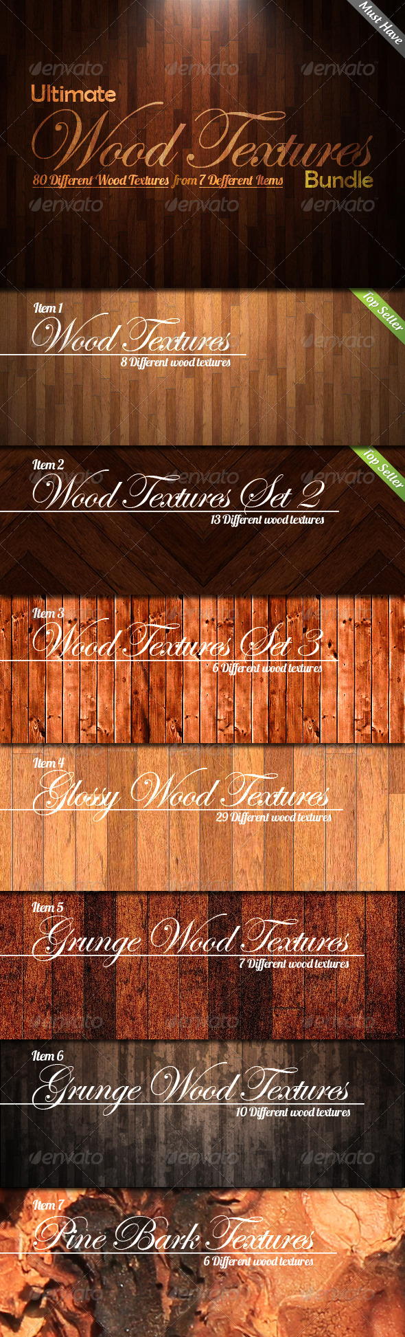 GraphicRiver Ultimate Wood Textures Bundle 3168590