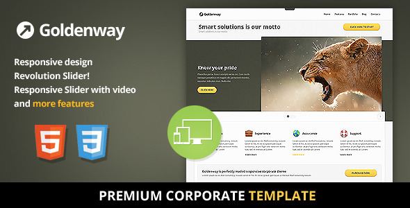 Goldenway - Premium Responsive HTML5 Template - Business Corporate