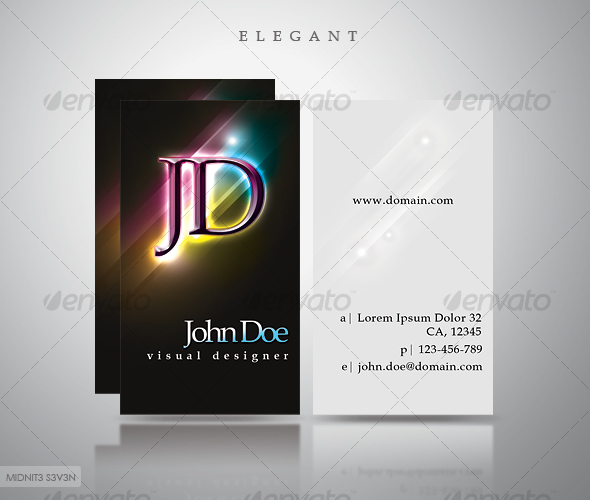 GraphicRiver Elegant Dark Business Card #3 111904
