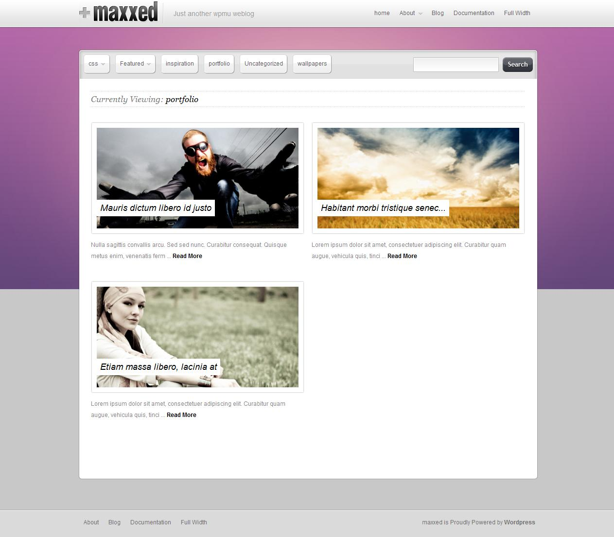 Maxxed - Portfolio and blog theme