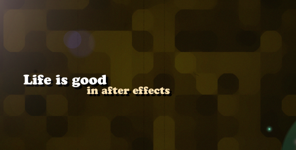 VideoHive Life is good 3170119