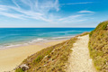 Path to the beach in carteret,  normandy, france - PhotoDune Item for Sale