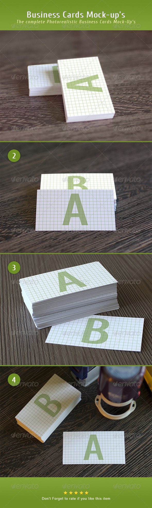 Photorealistic Business Card Mock-Up - Business Cards Print