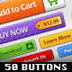 50 Buttons Pack - GraphicRiver Item for Sale