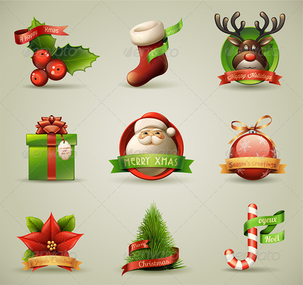 Christmas Icons  - Christmas Seasons/Holidays