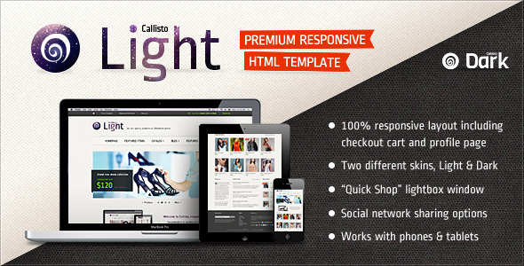 Callisto - Premium Responsive e-Commerce Template